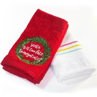 Набор новогодних полотенец Santa 30x40 см 2 шт