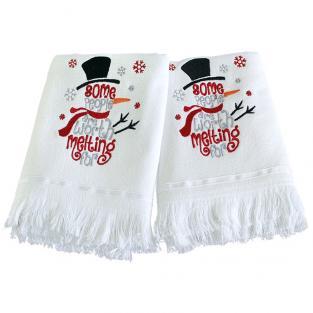 Набор новогодних полотенец Snowman 50x70 см 2 шт