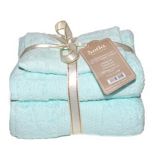 Набор махровых полотенец Sofia Blue 3 шт