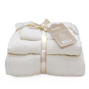 Набор махровых полотенец Sofia Milk 3 шт