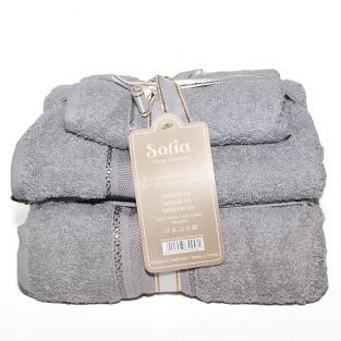 Набор махровых полотенец Sofia Grey 3 шт