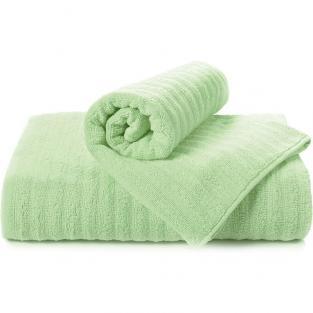 Полотенце махровое для душа Волна салатовое 70x140 см