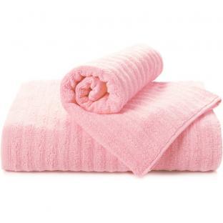 Полотенце махровое для душа TAG Волна розовое 70x140 см