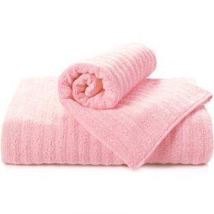 Полотенце махровое для душа Волна розовое 70x140 см