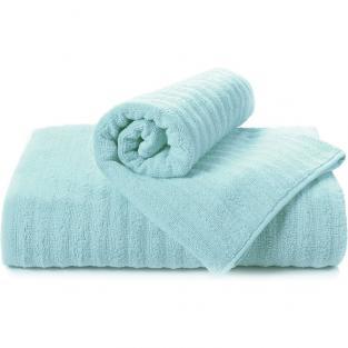 Полотенце махровое для душа Волна голубое 70x140 см
