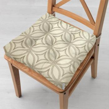 Подушка на стул 40x40 см Абстрацкия Беж