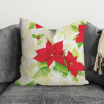 Новогодняя декоративная подушка Christmas Flower