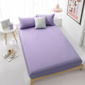 Фиолетовая простынь на резинке