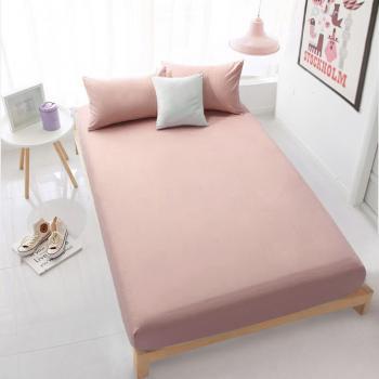 Розовая простынь на резинке