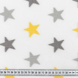 Тюль кисея с утяжелителем в детскую комнату Time Textile Желтые звездочки 400х295 см