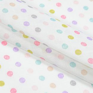 Тюль кисея с утяжелителем в детскую комнату Time Textile Draw горошек 300х140 см