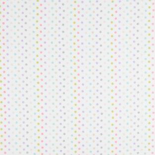 Тюль кисея с утяжелителем в детскую комнату Time Textile Draw горошек 300х275 см