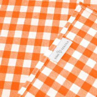 Скатерть Time Textile Клетка оранжевая 1,5 см