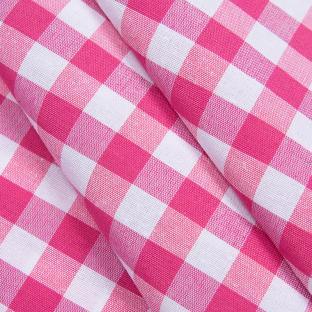 Скатерть Time Textile Клетка розовая 1,5 см