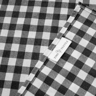 Скатерть Time Textile Клетка Серая 1,5 см