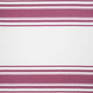 Вышитая скатерть в украинском стиле Time Textile розовая