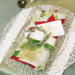 Новогодняя столовая салфетка Christmas Flower 38х38 см
