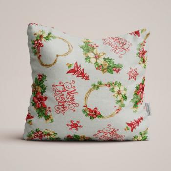 Новогодняя декоративная подушка Christmas Hearts